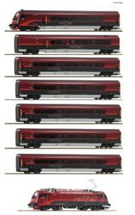 Roco 74114 HO Gauge ÖBB Rh1216 Railjet Train Pack